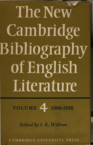Download The New Cambridge Bibliography of English Literature Book