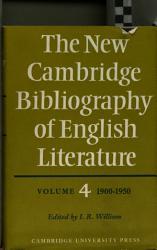 The New Cambridge Bibliography Of English Literature Book PDF