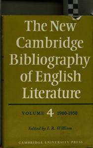 The New Cambridge Bibliography of English Literature Book