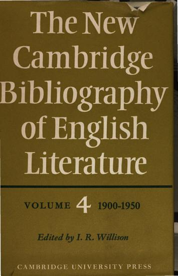 The New Cambridge Bibliography of English Literature PDF