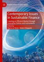 Contemporary Issues in Sustainable Finance PDF