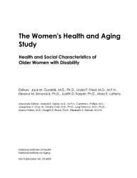 The Women S Health And Aging Study Book PDF