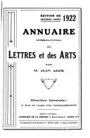 Annuaire international des lettres et des arts de langue ou de culture franc  aise PDF