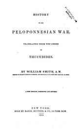 History of the Peloponnesian War: Volume 1