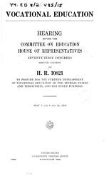Vocational Education  Hearing     on H R  10821    May 7 14  1930  71 2   PDF