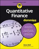 Quantitative Finance For Dummies PDF