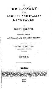 A Dictionary of the English and Italian Languages: Volume 2