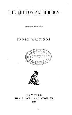 The Milton Anthology PDF