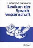 Lexikon der Sprachwissenschaft PDF