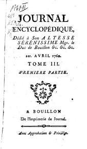 Journal encyclopédique ou universel: Volume3