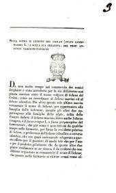 Nota sopra il lichene del Cielan (fucus Lichenoides L.) e sulla sua gelatina del prof. Antonio Targioni Tozzetti