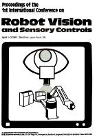 Proceedings of the 1st International Conference on Robot Vision and Sensory Controls  April 1 3  1981  Stratford upon Avon  UK PDF