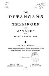 """De petangan's of tellingen der Javanen: De """"primbon"""". I"""