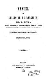 Manuel de l'histoire de Belgique