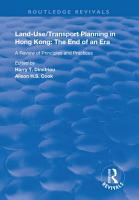 Land use Transport Planning in Hong Kong PDF