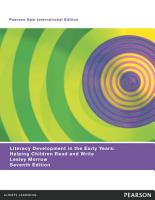 Literacy Development in the Early Years  Pearson New International Edition PDF