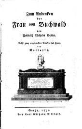 Zum Andenken der Frau von Buchwald