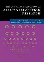 The Cambridge Handbook of Applied Perception Research PDF