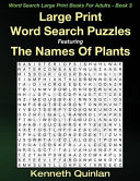 Large Print Word Search Puzzles Featuring the Names of Plants PDF
