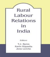 Rural Labour Relations in India PDF