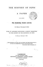 The history of pews, a paper [by J.M. Neale]. suppl. (to the 1st and 2nd eds.).
