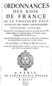 Ordonnances des roys de France de la troisième race, recueillies par ordre chronologique, avec des renvoys ...