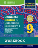Complete English for Cambridge Secondary 1 Student Workbook 9 PDF