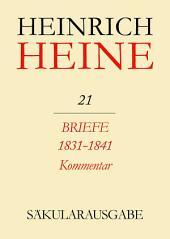 Briefe 1831-1841. Kommentar