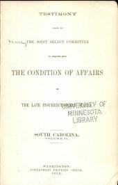 Report of and Testimony: Volume 4
