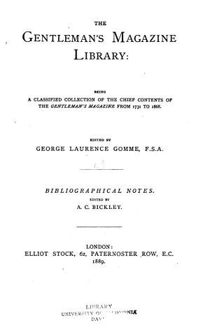The Gentleman s Magazine Library