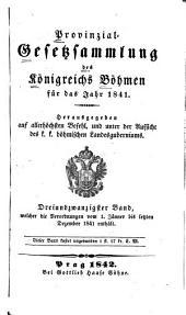 Provincial-gesetzsammlung des Königreichs Bömen: Band 23