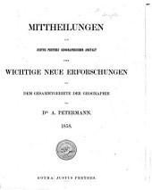 Petermanns Geographische Mitteilungen: Band 4;Band 1858