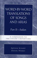 Word by word Translations of Songs and Arias  Italian PDF