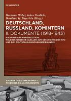Deutschland  Russland  Komintern   Dokumente  1918   1943  PDF