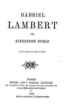 Gabriel Lambert  Nouvelle edition PDF