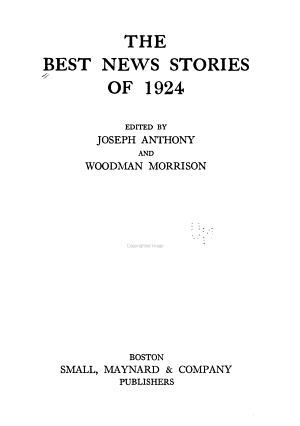 The Best News Stories of 1924