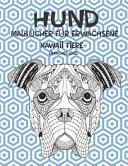 Malb  cher f  r Erwachsene   Einfaches Level   Kawaii Tiere   Hund PDF