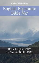 English Esperanto Bible No7: Basic English 1949 - La Sankta Biblio 1926
