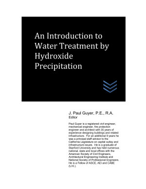 An Introduction to Water Treatment by Hydroxide Precipitation