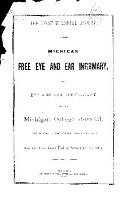 1st  Bi ennial Report of the Michigan Free Eye   Ear Infirmary   the Eye   Ear Department of the Michigan College Hospital  for the Two Years Ending Sept  1  1882   PDF