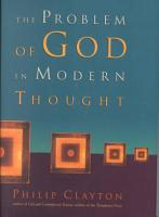 The Problem of God in Modern Thought PDF