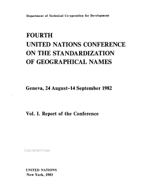 Fourth United Nations Conference on the Standardization of Geographical Names  Geneva  24 August 14 September 1982  Report of the conference PDF