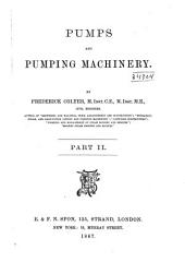Pumps and Pumping Machinery: Volume 2