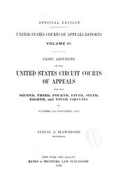 United States Courts of Appeals Reports: Cases Adjudged in the United States Circuit Court of Appeals, Volume 61