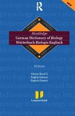 Langenscheidt Routledge German Dictionary of Biology: English-German, Englisch-Deutsch