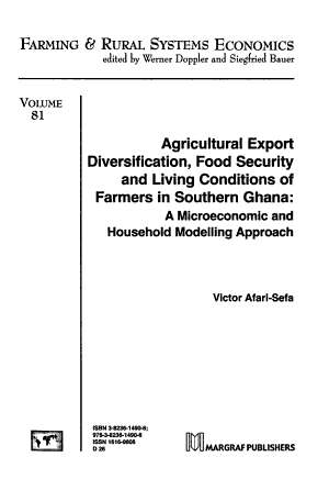 Agricultural Export Diversification  Food Security and Living Conditions of Farmers in Southern Ghana PDF