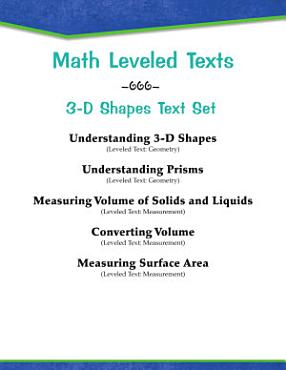 Leveled Texts  Master Math  3 D Shapes Text Set PDF