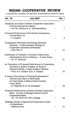 Indian Cooperative Review PDF