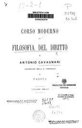 Corso moderno di filosofia del diritto: Volume 1