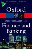 A Dictionary of Finance and Banking PDF